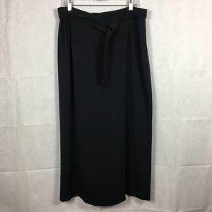 Doncaster Black Long Belted Skirt Sz 16